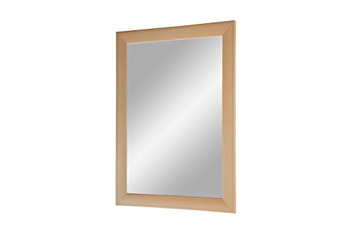 Flex 35 - Wandspiegel 100x120 cm mit Rahmen (Buche), Spiegel nach Maß mit 35 mm breiter MDF-Holzleiste - Maßgefertigter Spiegelrahmen inkl. Spiegel und stabiler Rückwand mit Aufhängern