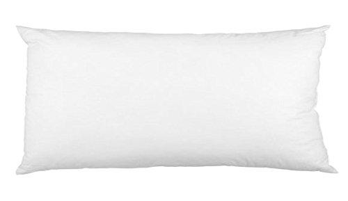 Hirsekissen 40x80cm, weiß, mit Bio-Hirseschalen, dirket befüllt