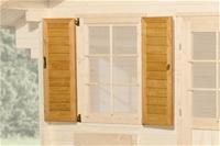 Weka Fensterladen 2-seitig für Gartenhaus 134