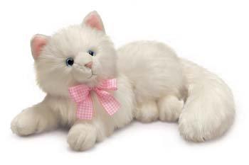 Russ Berrie Yomiko Nikki Cat - Gato de peluche (35,6 cm), color blanco de Russ Berrie