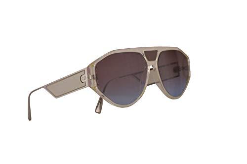 Dior Christian DiorClan1 Sonnenbrille Gelb Mit Blauen Roten Gläsern 61mm 40GYB Clan 1 Clan1