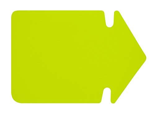folia 667 911 - Werbesymbol Pfeil, ca. 24 cm, 20 Stück, leuchtgelb aus doppelseitigem Leuchtkarton