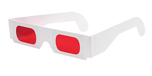 3d-brillen.de Decoderbrille rot/rot (10 Stück) - Hochwertige Farbfilterbrillen aus Papier mit roten Folien | Ideal, um versteckte Botschaften sichtbar zu machen | Kostenloser Versand