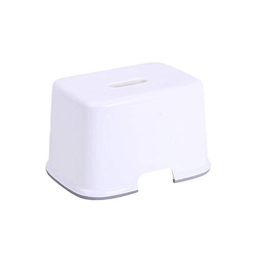 CJX-Step Stools Kleiner quadratischer Hocker, weißer Kunststoff-Stapelhocker Home-Hocker-Duschhocker Kinderhocker-Kleinkind-Tritthocker Folding-Tritthocker (Farbe : A)