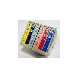 Epson Claria T0807 Tintenpatronen Set von 6 T0801 T0802 T0803 T0804 T0805 T0806 Schwarz, Cyan, Magenta, Gelb, Magenta hell,Cyan hell, Original, Bulk-Packung - Original Magenta-farbstoff