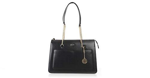 DKNY grand sac fourre-tout en cuir noir avec zip Black Leather