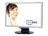 NEC 225WXM 55,9 cm (22 Zoll) LCD-Monitor DVI (Kontrast 1000:1, 5ms Reaktionszeit) silber