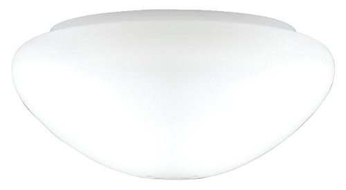 Westinghouse Lighting Westinghouse Lampenschirm 19,1 cm aus satiniertem Glas, Pilzform, weiß, 25.1 x 25.1 x 11.51 cm -