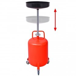 VidaXL altöl auffang Appareil ölauffangwagen ölauffanggerät ölablassgerät 49,5l acier