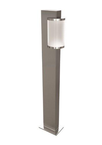 OSRAM Aussenleuchte Noxlite HAL Cylinder Ground Long 1x20W Pollerleuchte für Aussen / 64cm Höhe / dimmbar / Gebürster Edelstahl / warmweiß, 2700K - anthrazit