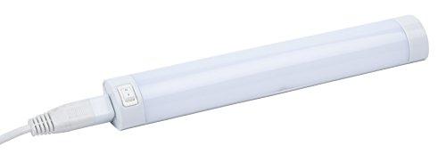 Leyton Lighting - Tira de luces LED acoplable (550mm, 8 W, luz blanca cálida)