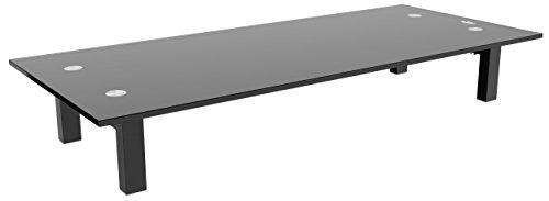 fernseh erhoehung RICOO TV Ständer Monitorständer Bildschirmständer Podest FS8235B Universal Standfuß Rack Fernsehständer LCD QLED QE 4K LED OLED IPS SUHD UHD 3D Curved/ 76cm/30-165/65