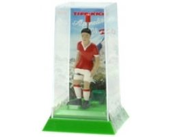 Tipp-Kick (Mieg) Consejo de Kick 031193–Portería Star futbolín de Suiza en caja con himno
