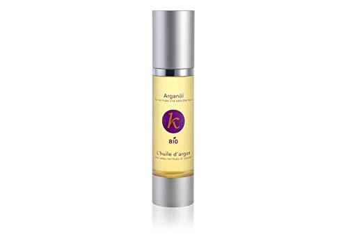 Khaty's Cosmetico naturale olio di argan BIO, 100% puro, delicatamente pressato a freddo, confezione da 1 (1 x 50 g)