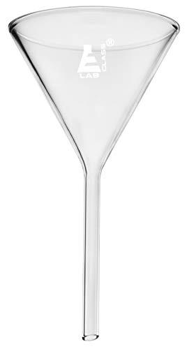 Eisco Labs Filtertrichter, 100 mm Durchmesser, aus Borosilikatglas, 10,2 cm, einfarbiger Stiel