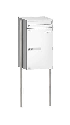 BURG-WÄCHTER, Ständer für Paketboxen Parcellock, Universal 150 eBoxx NI, Edelstahl, Pfosten