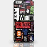Broadway Musical Collage für iPhone und Samsung Galaxy Fall (iPhone 6Plus schwarz)