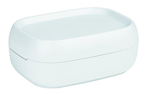 Rotho Sofia kleine Aufbewahrungsbox/Dekobox 3 l mit Deckel, Kunststoff (PP), weiß, 3 Liter (25 x 18 x 9,8 cm) - Dekorative Boxen Aufbewahrung