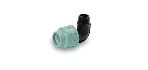 PP Coude Angle 20 ,25,32,40,50,63,75 mm Essayage Tige de boulon Raccord tubulaire pour Tube PE 10bar - 20 mm x 3/4\