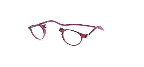 Neu Slastik Magnetisch Clic Stil Lesebrille Rahmen Soho 005 mit weichem Behälter, Verstellbare Bügel & Antireflektierende Brillengläser Dtr +1.0