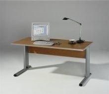Preisvergleich Produktbild iovivo Schreibtisch Topeka, Office Grau mit C-Füßen 120X80CM
