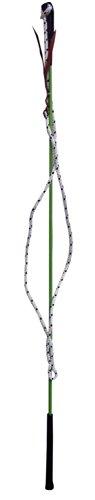 Kontaktstock mit Seil für die Bodenarbeit 120 cm grün Reitstick Finesse-Stick Carrot Stick | Horsemanstick Natural Horsemanship Karottenstecken Pferde Kontaktstock mit Lederschlappe
