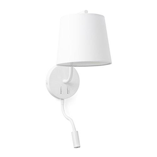 BERNI es un set de lámparas de diseño de Nahtrang caracterizado por la simplicidad estudiada y las formas puras. Un estilo depurado, detalles muy cuidados y pantallas de telaque difuminan la luz. Este aplique con lector LED dispone de dos interruptor...