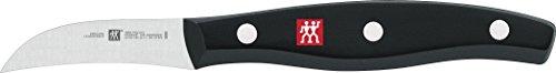 Zwilling Twin Pollux Schälmesser, 60 mm (Rostfreier Spezialstahl, Zwilling Sonderschmelze, genietet, Vollerl, Kunststoff-Schalen) schwarz