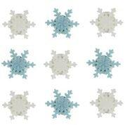 essbar Sugarcraft schimmernden Blau & Weiß Schneeflocken Kuchen Topper-9Stück-Perfekt für Weihnachten und Dekoration Ihrer Kuchen