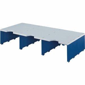 Styro Aufbaueinheit trio 3 Fächer grau/blau