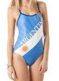 SwimmerWear Kostüm Training Damen Openback Argentinien XL (Argentinien Un Kostüm)