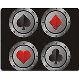 Luxlady Gaming Mousepad IMAGE ID: 22466765 clubs hearts spades diamonds