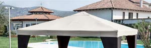 Bâche de rechange en polyester pour toit de tonnelle, 3 x 4 m, anti-déchirure, blanc