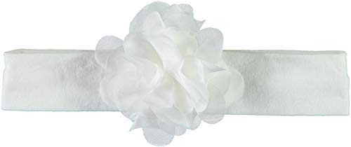 festmode baby NAME IT Baby Mädchen Haarband Stirnband mit Blume NBFSILJE Headband Festmode Taufe, Farbe:Bright White, Größe:One Size