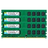 DUOMEIQI 8GB Kit (4 X 2GB) DDR2 800MHz UDIMM 2RX8 PC2-6300 PC2-6400 240pin CL6 1.8v Unbuffered Non-ECC Dual Channel Desktop RAM Memory Module for Intel AMD System
