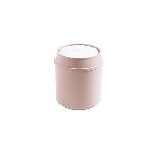 SPLAN Mini Mülleimer PP-Material, kann Desktop-Papierkorb, Mini kompakt in Anspruch nimmt Nicht Raum, geeignet for Büro, zu Hause, Auto, (grau, beige, pink) (Farbe : B)
