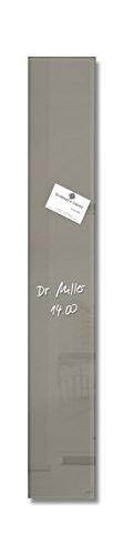 SIGEL GL108 kleines Glas-Magnetboard 12 x 78 cm taupe / Magnetleiste Artverum - weitere Farben