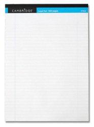 Cambridge-Legal-Block-perforiert-zum-Abreien-schwach-liniert-mit-Rand-100-Seiten-A4-10-Stck-wei