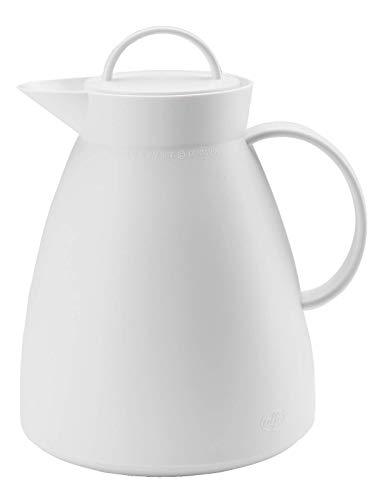alfi 0935.012.100 Isolierkanne Dan, Kunststoff gefrostet Weiß 1,0 l, 12 Stunden heiß, 24 Stunden kalt