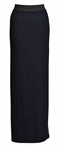 Neue Damen Gypsy Langes Jersey Maxi Kleid Damen Gypsy Rock Plus Größen 16–26 Schwarz