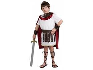 Kinder Mittelalter Kostüm Ritter Gladiator bis 12 (Caesar Kinder Kostüm)