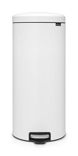 Brabantia newIcon Treteimer 30 L Sense of Luxury, Edelstahl, mineral eternal weiß, 30 Liter Brabantia 30 L Matt