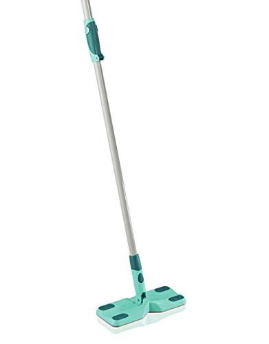 Leifheit Bodenwischer Clean & Away mit Click System zur Trockenreinigung mit Staubtüchern, Schrubber mit 1,3 m Teleskopstiel, Wischer mit 360°-Gelenk -