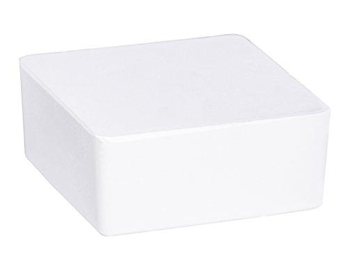 Wenko 50261100 Design Raumentfeuchter Cube Nachfüller 500 g mit Orangenduft Luftentfeuchter, Nachfüllpack, Calciumchlorid, 10 x 10 x 5 cm, weiß