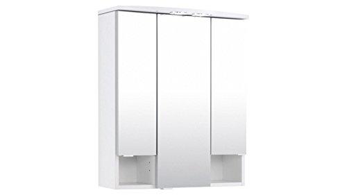 #HELD MÖBEL Spiegelschrank Neapel Breite 60 cm, mit Beleuchtung weiß#
