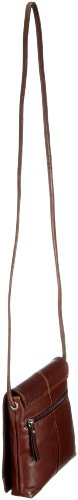 Gerry Weber Flap Bag S 08/00/01498-900, Borsa donna, 18x20x4 cm (L x A x P) Marrone/Marrone scuro
