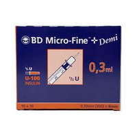 BD MicroFine 0.3ml Insulinspritzen U100 Demi - Insulin Spritzen