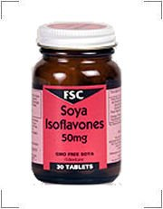 Soya Isoflavones 50mg 60 Tablets from FSC