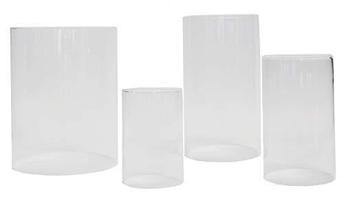 Varia Living Glaszylinder ohne Boden für Windlicht Verschiedene Größe Ersatzglas | für draußen und innen | offenes Glasrohr groß | transparent (Ø 20 cm/H 25,5 cm)