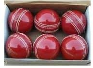 N A SPORTS Cricket Leather Ball 4 Piece Pack of 6